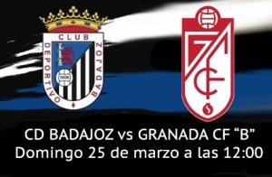 Entrada Partido CD Badajoz vs Granada CF