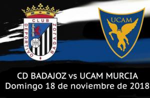 Entrada Partido CD Badajoz vs UCAM Murcia