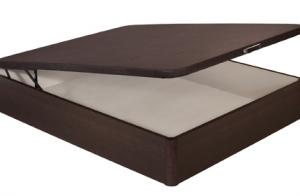 Canapé de madera en color wengue con gran capacidad + montaje y transporte