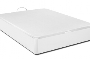 Canapé de madera en color blanco con gran capacidad + montaje y transporte
